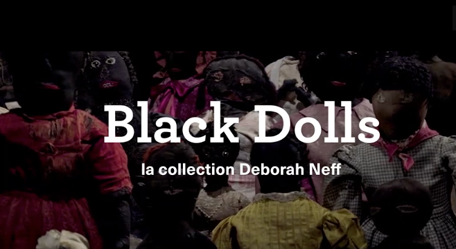Capture extrait du tease de l'exposition Black dols ©Maison rouge
