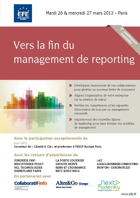 Vers la fin du management de reporting - 2ème édition